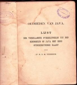 Verbeek 1891 Inbb