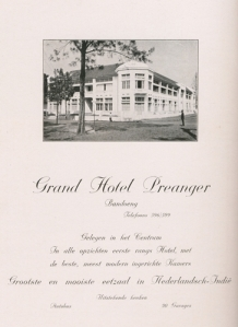 Iklan The strictly first class Grand Hotel Preanger dari buku Batavia Jaarboek 1927.