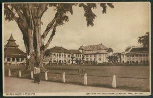 Lokasi Biro Insinyur Soekarno-Anwari di sebelah utara Mesjid Agung Bandung.